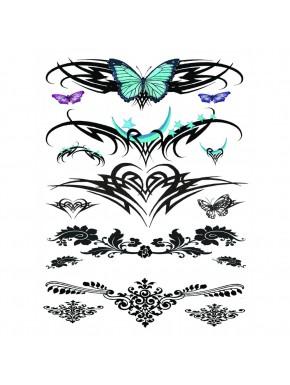 Tatouage éphémère - Plaque de 5 tattoos