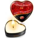 Mini bougie de massage pêche de vigne boîte coeur 35ml