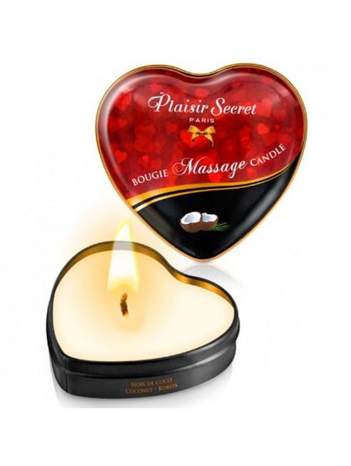 Mini bougie de massage noix de coco boîte coeur 35ml
