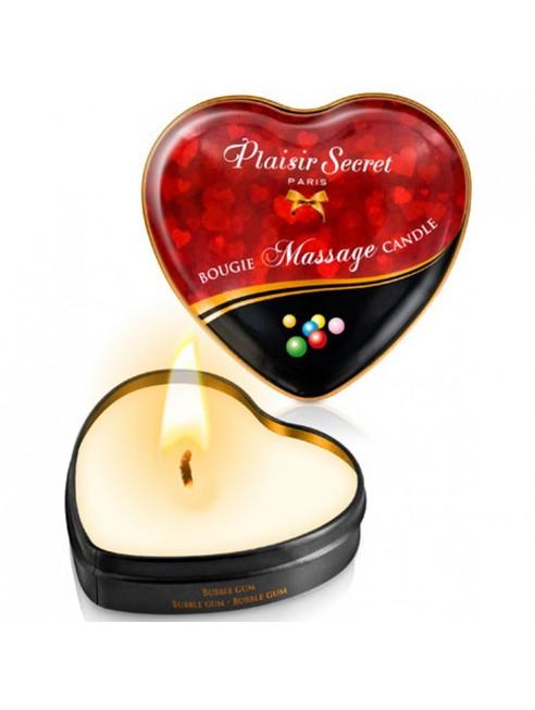 Mini bougie de massage bubble gum boîte coeur 35ml