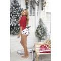Ensemble de nuit top rouge et culotte de Noël