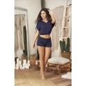 Ensemble de nuit bleu top ample et shorty
