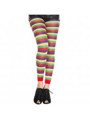 Legging fantaisie coloré bandes horizontales