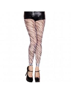 Legging sexy résille style zébré