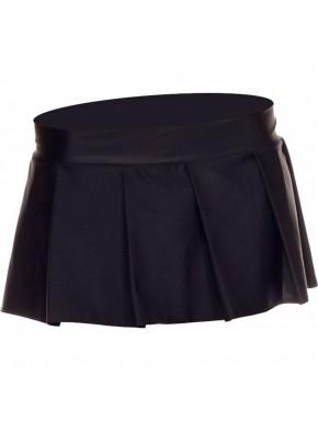 Mini jupe plissée, uni