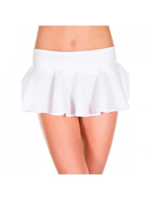 Mini-jupe évasée volante blanche