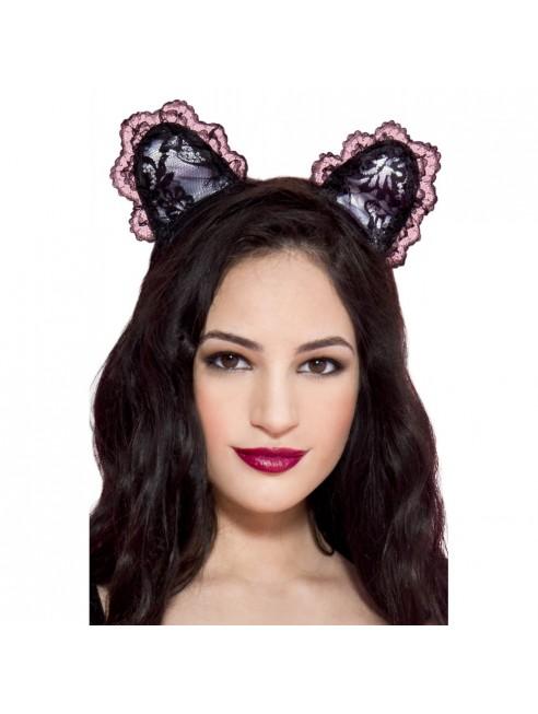 Petite oreilles de chatte en dentelle
