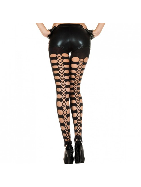 Collant legging noir sexy avec trous