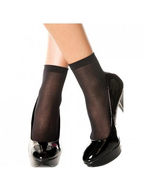 Socquettes chaussettes noires nylon