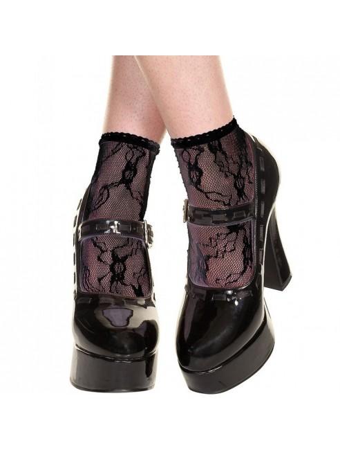 Socquettes noires en dentelle