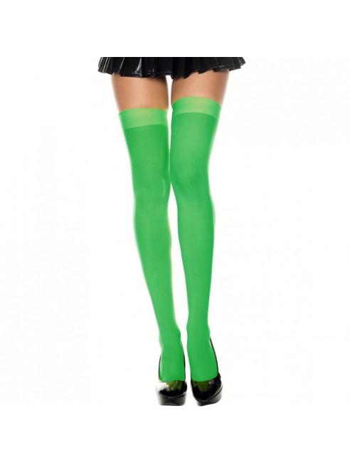 Bas autofixants vert opaques fantaisie