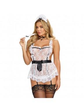 Costume sexy femme de chambre en tablier