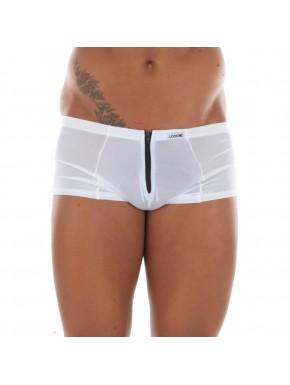 Mini Pant blanc avec double zip Wiz