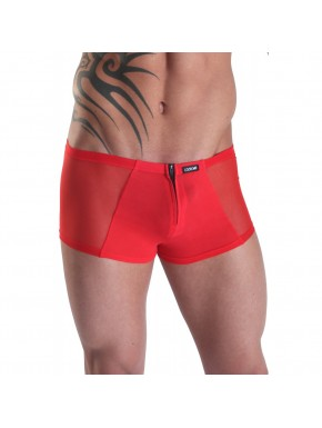 Mini Pant rouge avec double zip Wiz