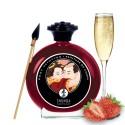 Peinture de corps comestible fraise vin pétillant 100ml