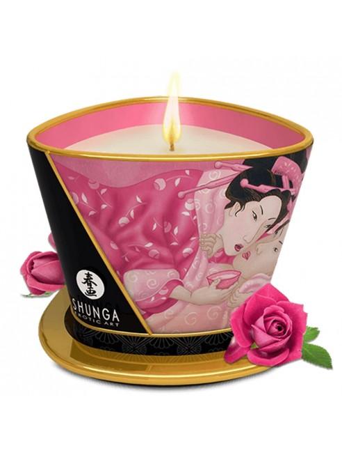 Bougie de massage à la rose 170ml