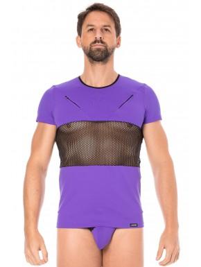 T-shirt violet filet