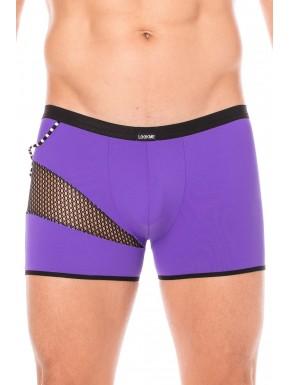 Boxer violet filet et corde