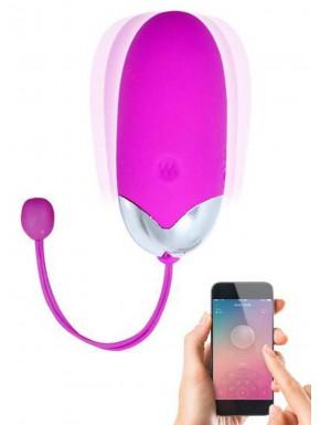 Oeuf vibrant puissant USB avec application smatphone
