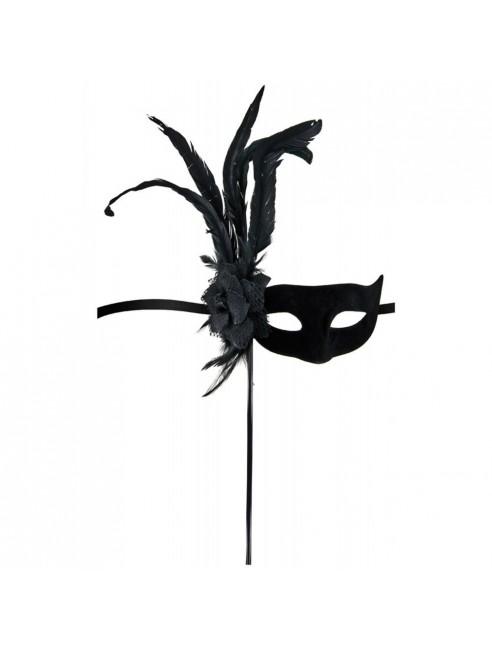 Masque loup Orfeo noir