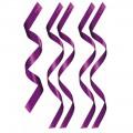 Set de 5 bandeaux satinés violets chevilles poignets et yeux