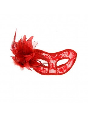 Masque la traviata rouge