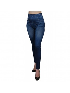 Legging bleu style jean neuf