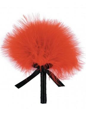 Plumeau rouge avec noeud satiné - 100500