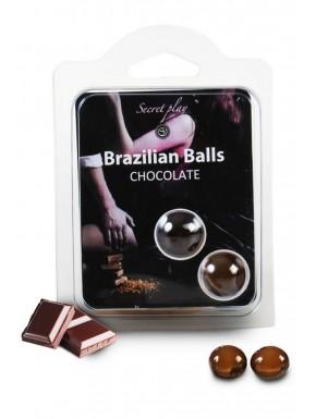 Boules de massage Brésiliennes chocolatées - BZ3857