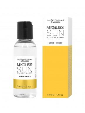 2 en 1 Lubrifiant et huile de massage silicone Mixgliss Sun Monoï 50 ML - MG2211