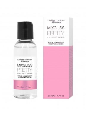 2 en 1 Lubrifiant et huile de massage silicone Mixgliss Pretty Fleur de cerisier 50 ML - MG2511