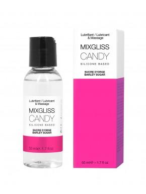 2 en 1 Lubrifiant et huile de massage silicone Mixgliss Candy Sucre d'orge 50 ML - MG2559