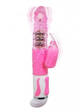 Vibromasseur Rabbit rose intenses 12 vibrations et 4 rotations - CC530322