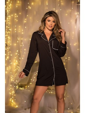 Nuisette style chemise home loose