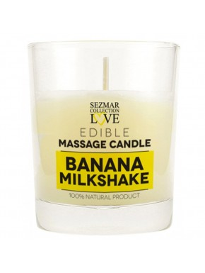 Bougie de massage milshake banane 100ml