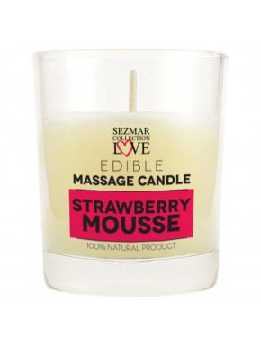 Bougie de massage mousse de fraise 100ml