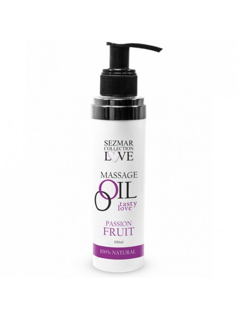 Huile de massage comestible Fruit de la passion 100ml